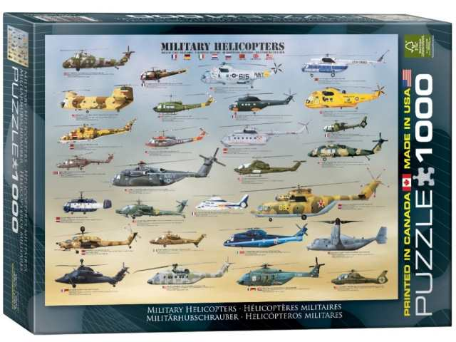 Eurographics 1000 Piece Jigsaw Puzzle - Military Helicopters 60000088