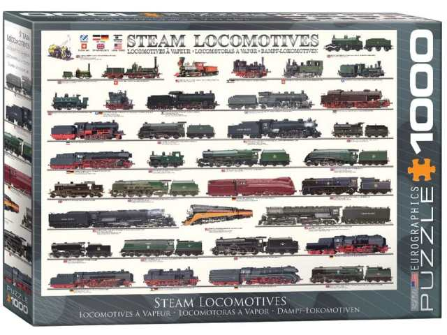 Eurographics 1000 Piece Jigsaw Puzzle - Steam Locomotives 60000090