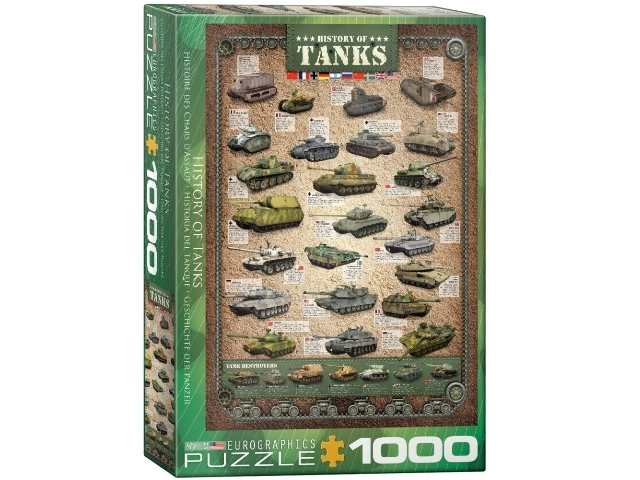 Eurographics 1000 Piece Jigsaw Puzzle - History of Tanks 60000381