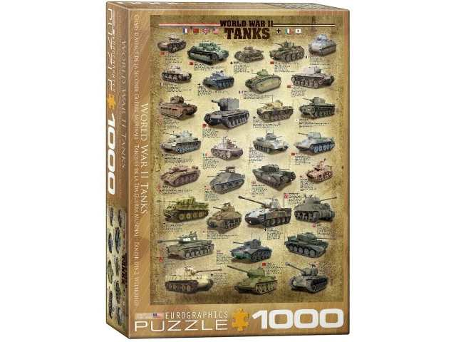 Eurographics 1000 Piece Jigsaw Puzzle - World War II Tanks 60000388