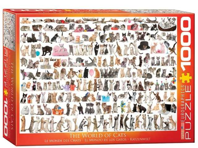 Eurographics 1000 Piece Jigsaw Puzzle - World of Cats 60000580