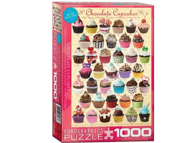Eurographics 1000 Piece Jigsaw Puzzle - Chocolate Cupcakes 60000587