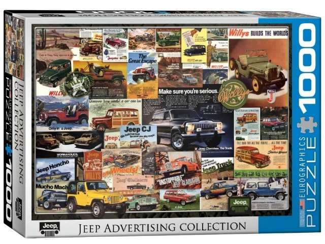 Eurographics 1000 Piece Jigsaw Puzzle - Jeep Vintage Ads 60000758