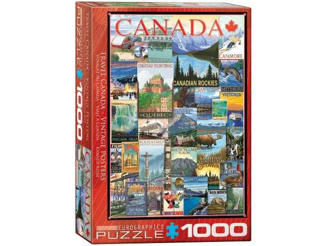 Eurographics 1000 Piece Jigsaw Puzzle - Travel Canada Vintage Ads 60000778