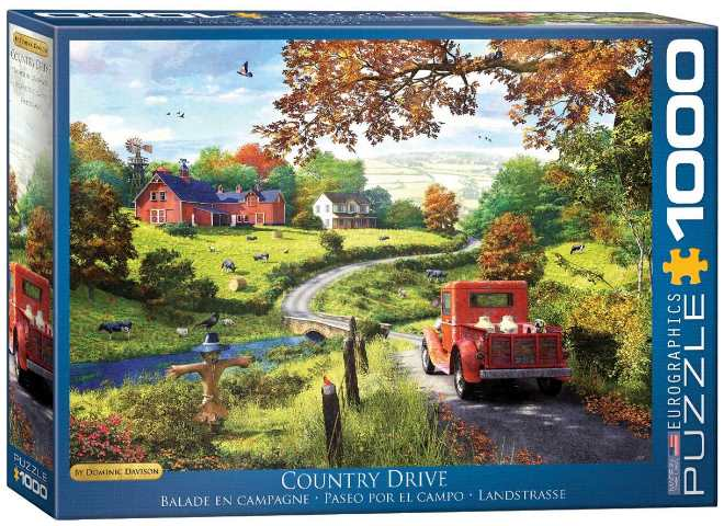 1000 Piece Jigsaw Puzzle - Country Drive