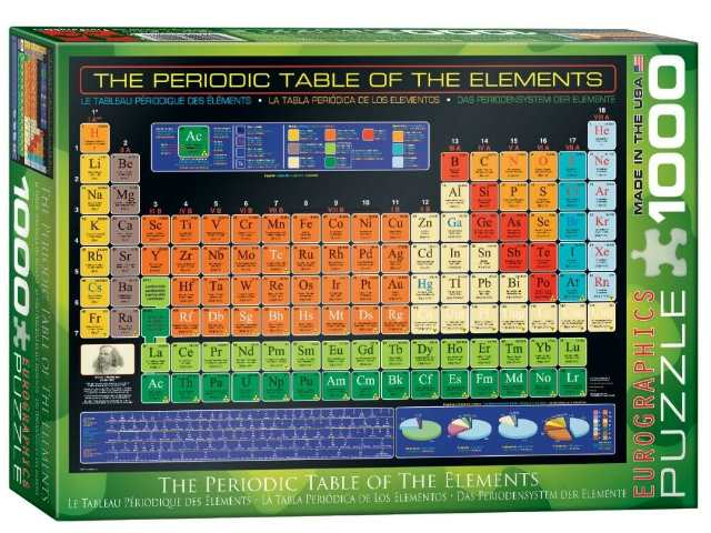 Eurographics 1000 Piece Jigsaw Puzzle - Periodic Table of the Elements 60001001