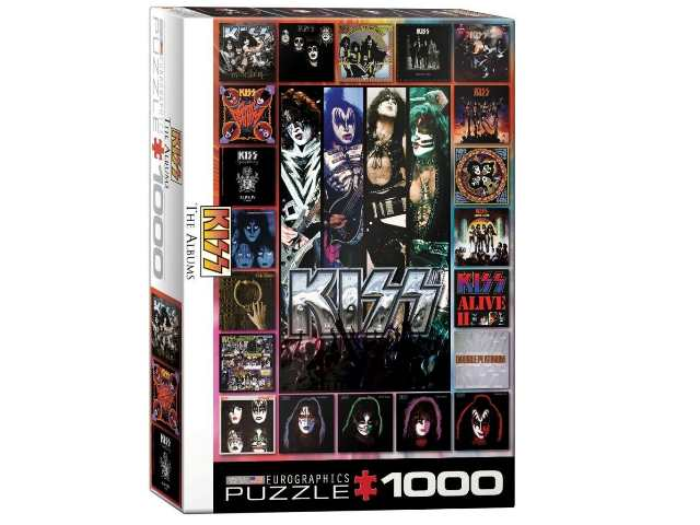 Eurographics 1000 Piece Jigsaw Puzzle - KISS The Albumns 60005305