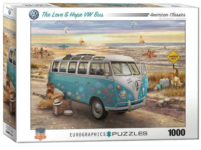 Eurographics 1000 Piece Jigsaw Puzzle - Love and Hope VW Bus 60005310