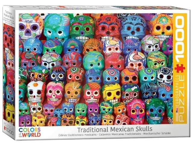 Eurographics 1000 Piece Jigsaw Puzzle - Traditional Mexican Skulls 60005316
