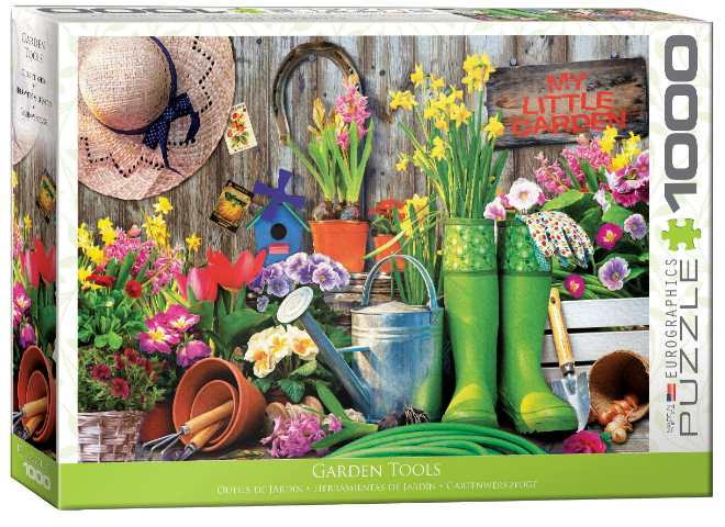 1000 Piece Jigsaw Puzzle - Garden Tools
