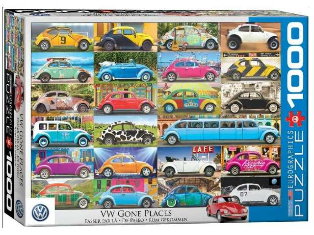 Eurographics 1000 Piece Jigsaw Puzzle - VW Beetle Gone Places 60005422