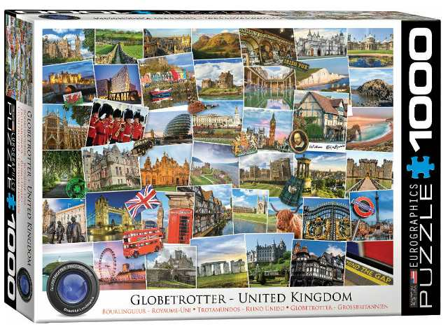 Eurographics 1000 Piece Jigsaw Puzzle - Globetrotter United Kingdom 60005464