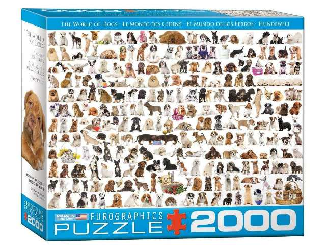 Eurographics 2000 Piece Jigsaw Puzzle - The World of Dogs 82200581