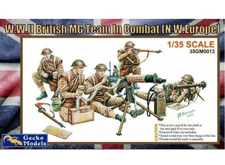 Gecko Models WWII British MG Team In Combat (NW Europe) 35GM0013