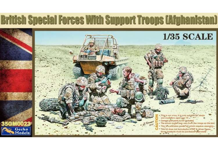 Gecko Models British Special Forces w/ Support Troops Afghanistan 35GM0023