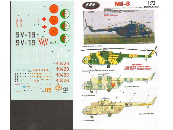 HAD Decals 1/72 72055 Mi-8