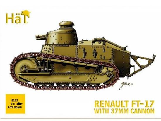 Hat Renault FT-17 with 37mm cannon x 2