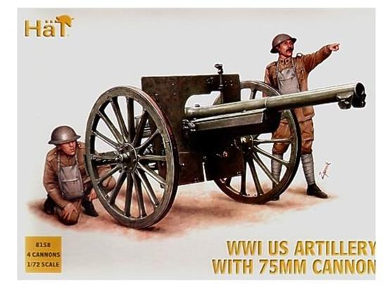 Hat WWI US Artillery with 75mm cannon