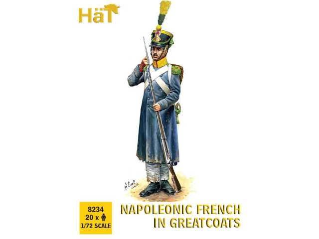 Hat 1/72 8234 French with Greatcoats Marching