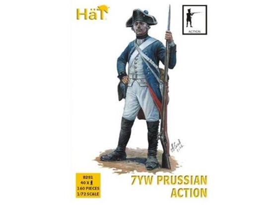 Hat 7YW Prussian Infantry, Action Seven Years War 8281