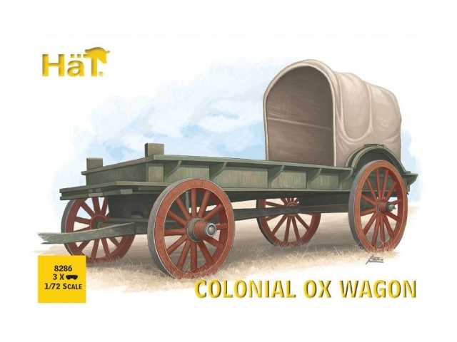 Hat 1/72 8286 Colonial Ox Drawn Wagon