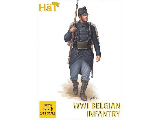 Hat 1/72 8290 WWI Belgian Infantry