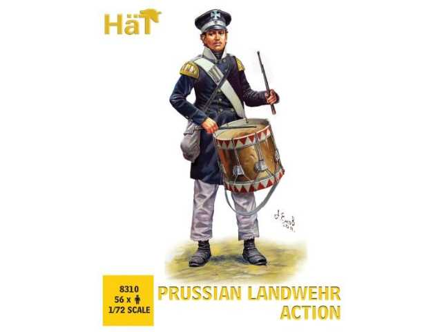 Hat 1/72 8310 Napoleonic Prussian Landwehr Action