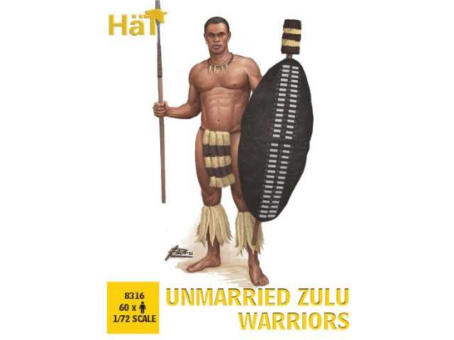 Hat 1/72 8316 Unmarried Zulu Warrior