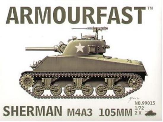 Armourfast Sherman M4A3 105mm x 2 99015