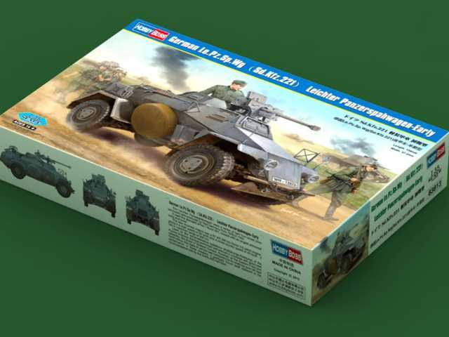 Hobbyboss German Le.Pz.Sp.Wg (Sd.Kfz.221) Leichter Panzerspahwagen-Early 83813