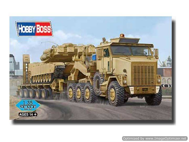 Oshkosh M1070 Truck Tractor and M1000 HETS (Heavy Equipment Transporter Semi-trailer)