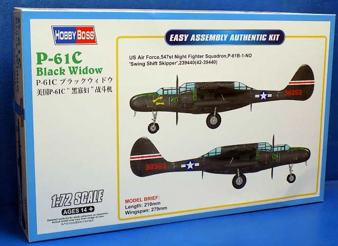 Hobbyboss 1/72 87263 P-61C Black Widow