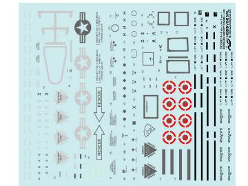 Hobby Decal 1/32 32025s1 F-16 Stencils 3 ver 1 (1/32) for Academy