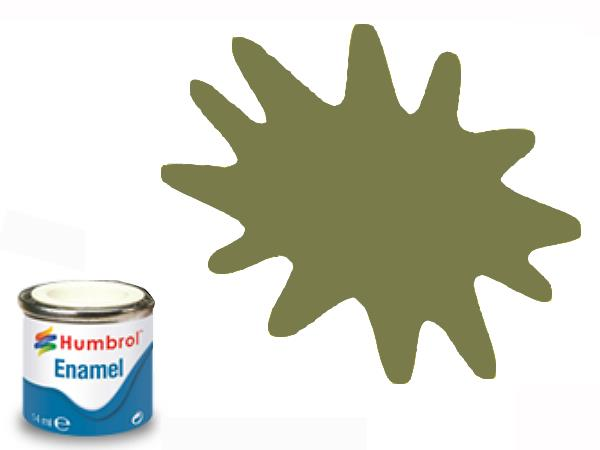 Humbrol 14ml 105 Enamel Paint 105 Matt Marine Green