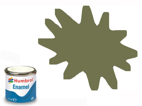 Humbrol 14ml 155 Enamel Paint 155 Matt Olive Drab