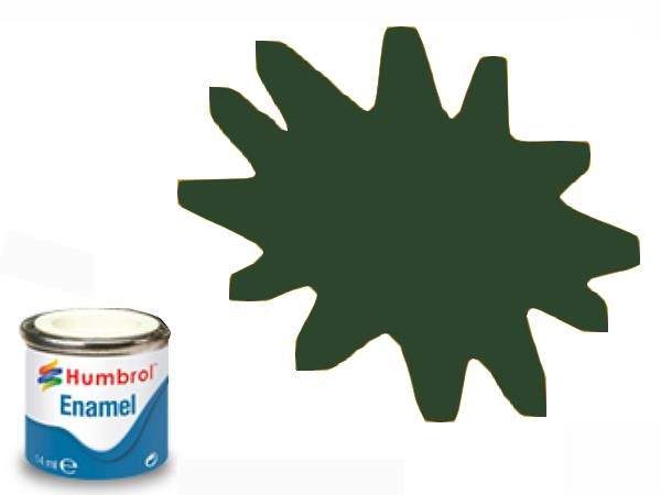Humbrol 14ml 165 Enamel Paint 165 Satin Medium Sea Grey