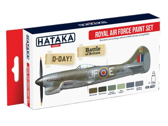 Hataka 6x 17ml AS07 Acrylic Paint Set - Royal Air Force WWII Camouflage