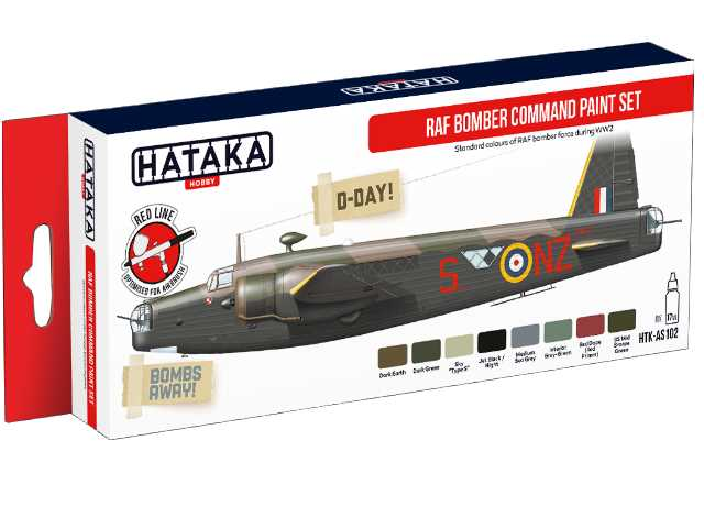 Hataka Acrylic Paint Set - RAF Bomber Command AS102