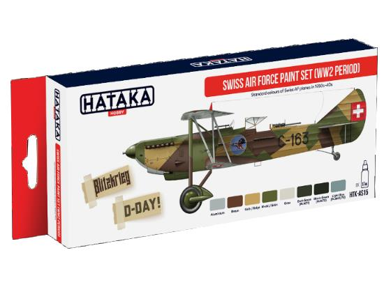 Hataka Acrylic Paint Set - Swiss Airforce WWII