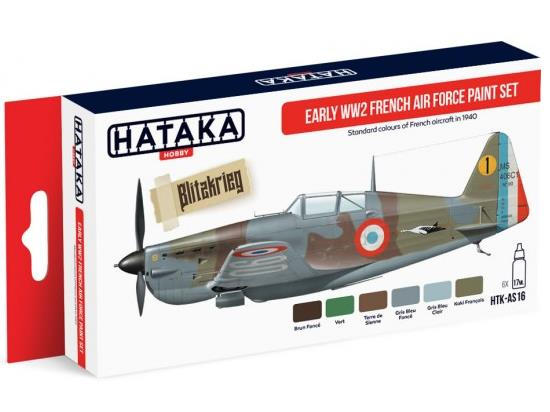 Hataka 6x 17ml AS16 Acrylic Paint Set - WWII French Airforce