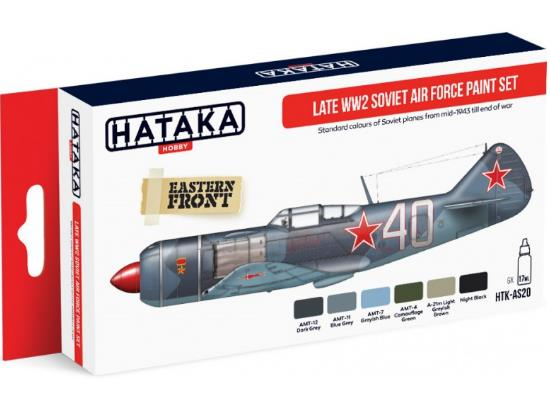 Hataka 6x 17ml AS20 Acrylic Paint Set - Late WWII Soviet Air Force