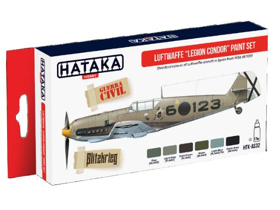 Hataka 6x 17ml AS32 Acrylic Paint Set - Luftwaffe Legion Condor