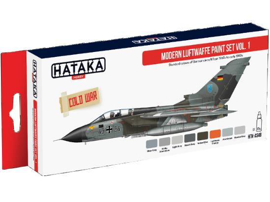 Hataka 8x 17ml AS48 Acrylic Paint Set - Modern Luftwaffe - Vol 1