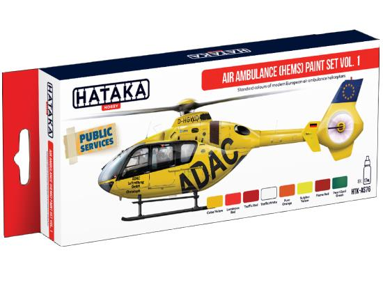 Acrylic Paint Set - Air Ambulance (Hems)  vol. 1