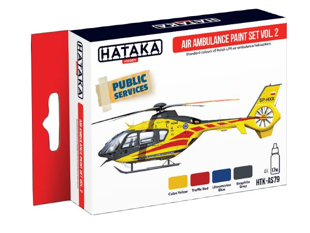 Hataka 4 x 17ml AS79 Acrylic Paint Set - Air Ambulance (HEMS) vol. 2
