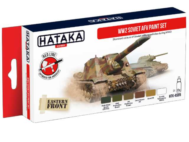 Hataka Acrylic Paint Set - WW2 Soviet AFV AS95