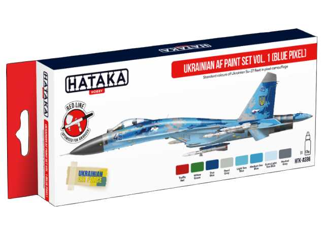 Hataka Acrylic Paint Set - Ukrainian AF vol. 1 (Blue Pixel) AS96