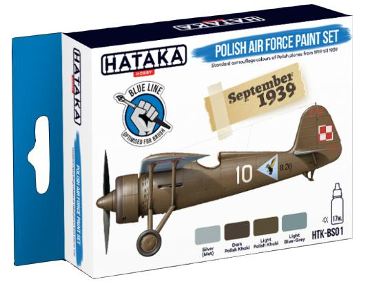 Hataka 4 x 17ml BS01 Acrylic Paint Set - Polish Air Force (for hand brushing)