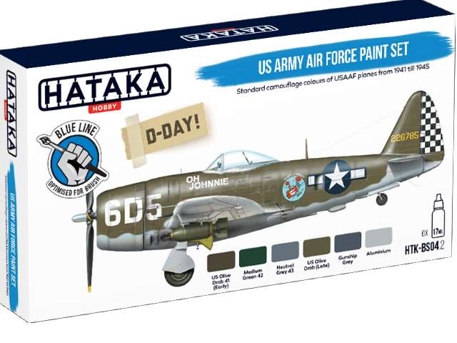 Hataka Acrylic Paint Set - US Army Air Force (for hand brushing) BS04-2