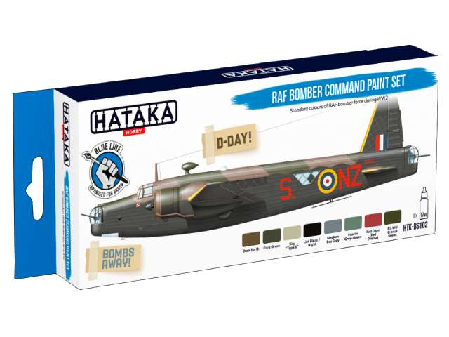 Hataka Acrylic Paint Set - RAF Bomber Command (for hand brushing)